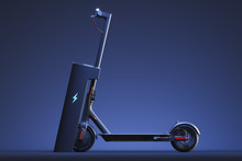 Electric Scooter With Electric...