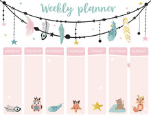 Cute Weekly Planner Background...