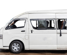 White Van Car Big Damaged And ...