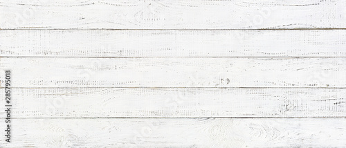 Türaufkleber Holz white wood texture background, wide wooden plank panel pattern