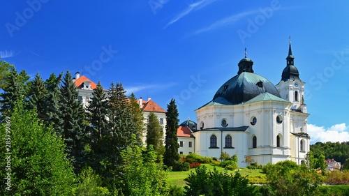 Obraz na plátně  Beautiful old church in Krtiny