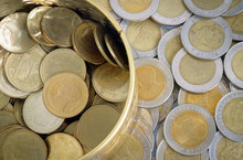 Gold And Silver Coins One Baht...