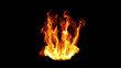 Dynamic Fire Flame Design. 3d illustration.