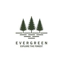 Rustic Retro Vintage Evergreen...