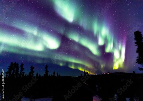 Foto op Plexiglas Noorderlicht アラスカ フェアバンクスのオーロラ