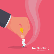 No Smoking. Quit Smoking Sign....