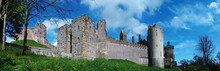 Panoramic View Of Arundel Castle In Sussex, England.