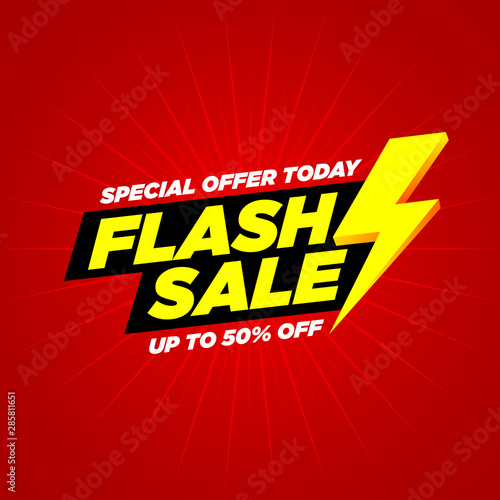 Obraz Flash  Sale banner vector Text  and Background - fototapety do salonu