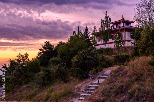 Buddhist temple Dag Shang Kagyu in Panillo huesca Aragón Spain