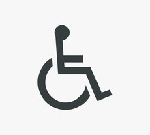 Disabled Handicap Symbol Icon Vector Illustration