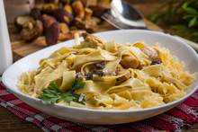 Tagliatelle Pasta With Forest ...