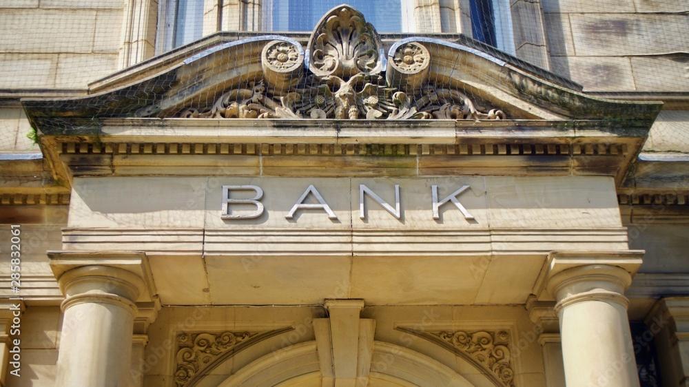 Fototapeta Vintage Bank Sign