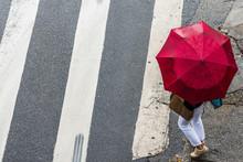 People Walking During The Rain