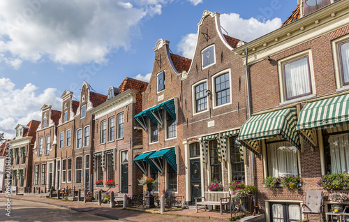 Historic houses in the center of Blokzijl, Netherlands