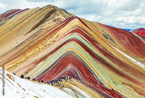Poster South America Country Rainbow mountains or Vinicunca Montana de Siete Colores