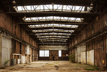 Abandoned Empty Old Factory Wo...