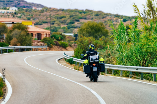 Photo Motorcycle on road in Costa Smeralda
