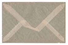1947 Old Envelope With Adhesive Tape On White Background