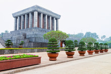 Ho Chi Minh Mausoleum In Ba Dinh Square In Hanoi