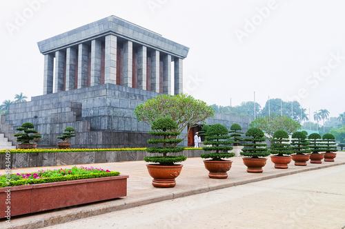 Obraz na plátně Ho Chi Minh Mausoleum in Ba Dinh Square in Hanoi