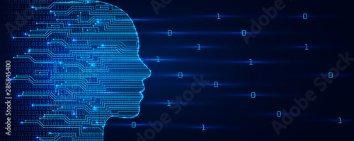 Artificial intelligence concept Fototapet