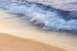 Blurred morning wave, surf on the Black Sea.