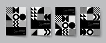 Trendy Covers Design. Minimal Geometric Shapes Compositions.