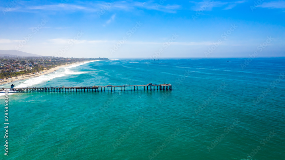 Fototapety, obrazy: Aerial San Clemente Pier Summer Day