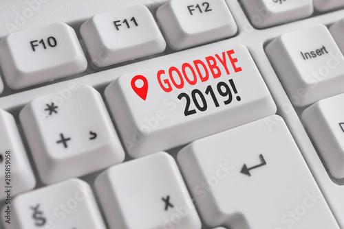Obraz na plátně  Handwriting text Goodbye 2019