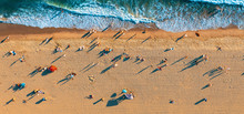 Aerial View Of The Beach In Sa...