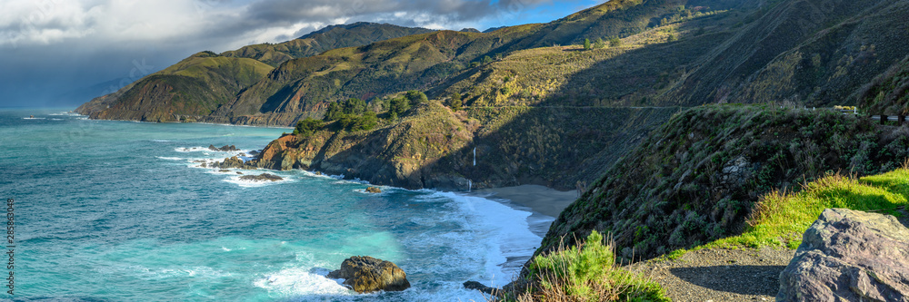 Fototapety, obrazy: Panorama of Big Sur Coast and Pacific Ocean