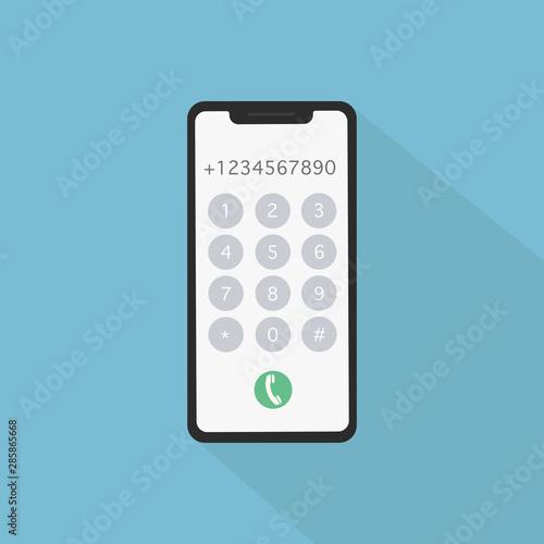 Fotomural Dial number concept