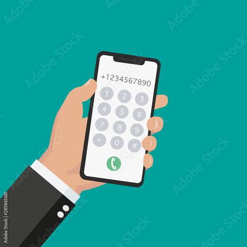 Cuadros en Lienzo Dial number concept