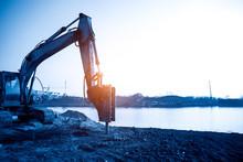 Big Excavator In Construction ...