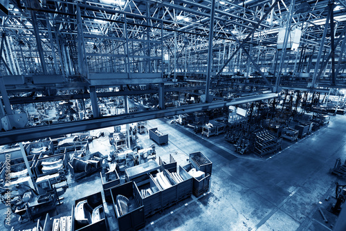 Fotografie, Obraz Modern automatic automobile manufacturing workshop