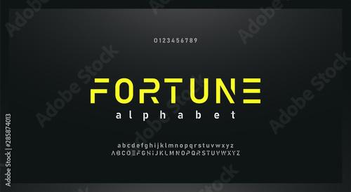 Fotografía  urban modern alphabet font and number