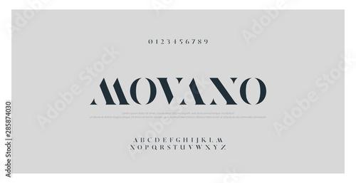 Fotografia  Elegant alphabet letters font and number