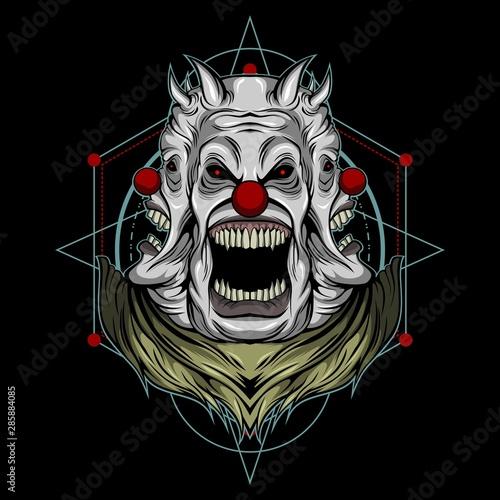 creepy clown sacred geometry illustration Fototapete