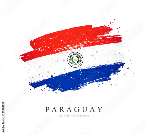 Flag of Paraguay. Vector illustration on a white background. Wallpaper Mural
