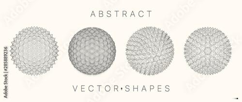 Fotografía  Geometric shape for design. 3d technology style.