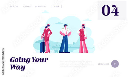 Photo Air Hostess Service Website Landing Page