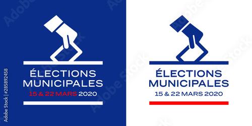 Elections municipales françaises / 15 et 22 mars 2020 Canvas Print