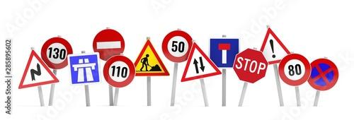 Fotografía  bannière panneaux de circulation