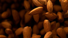 Almonds In Freeze Motion