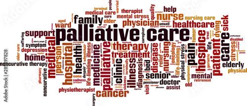 Palliative care word cloud Wallpaper Mural
