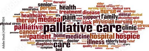 Photo Palliative care word cloud