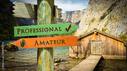 Photo Street Sign Professional versus Amateur