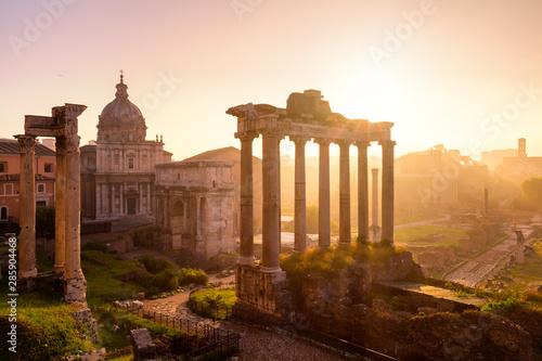 Obraz na płótnie Roman Forum. Image of Roman Forum in Rome, Italy during sunrise.