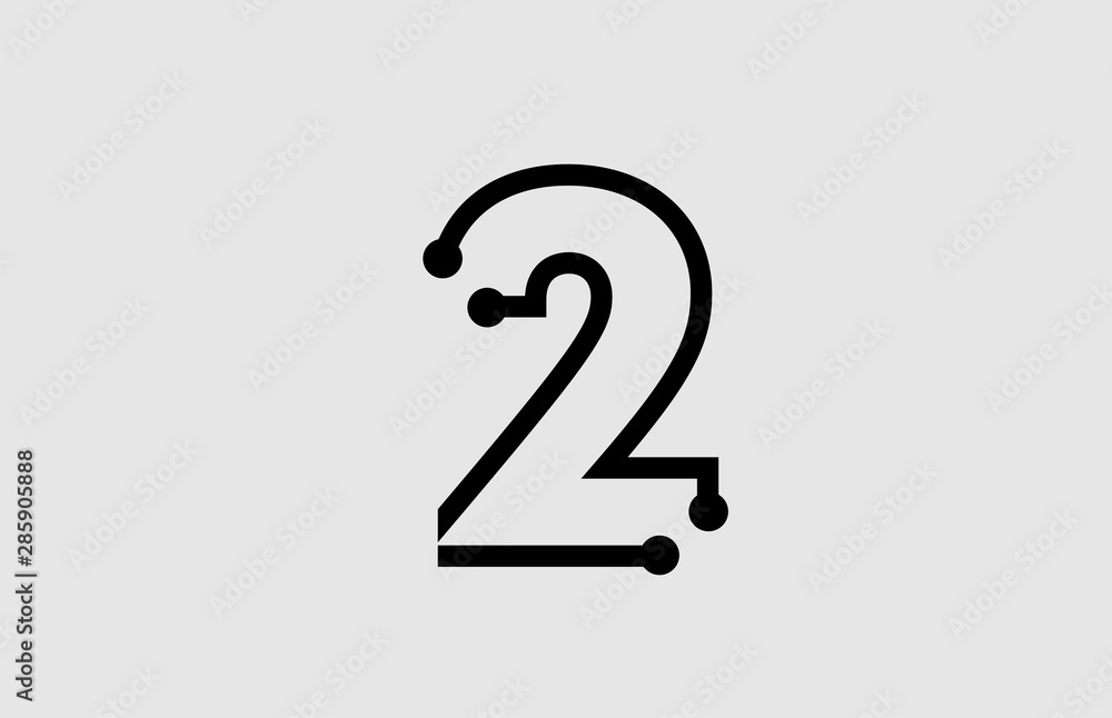 Fototapeta number 2 logo design with line and dots