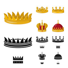 Vector Design Of Medieval And Nobility Sign. Set Of Medieval And Monarchy Stock Vector Illustration.